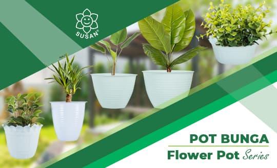 Susan Plastik Pot bunga Series